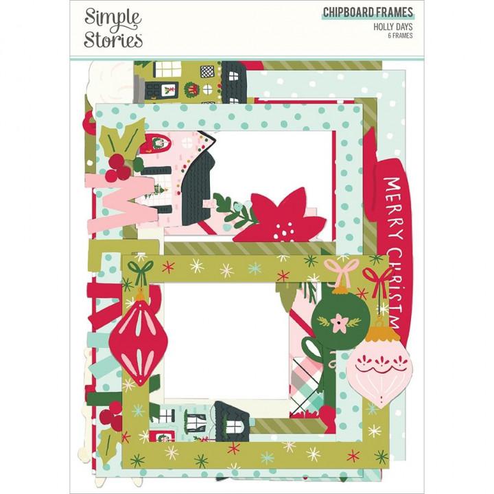 Висічки Simple Stories Holly Days Chipboard Frames Die-Cuts 6/Pkg