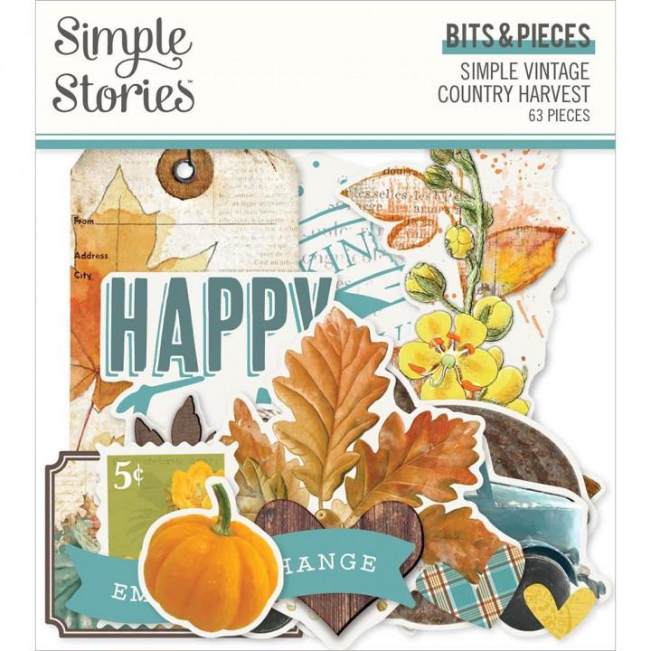 Висічки Simple Stories Simple Vintage Country Harvest Bits & Pieces Die-Cuts 64/Pkg
