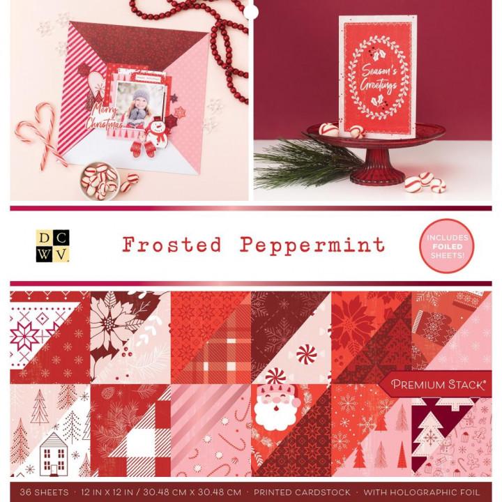 Набір паперу 30*30см DCWV Frosted Peppermint 36/Pkg