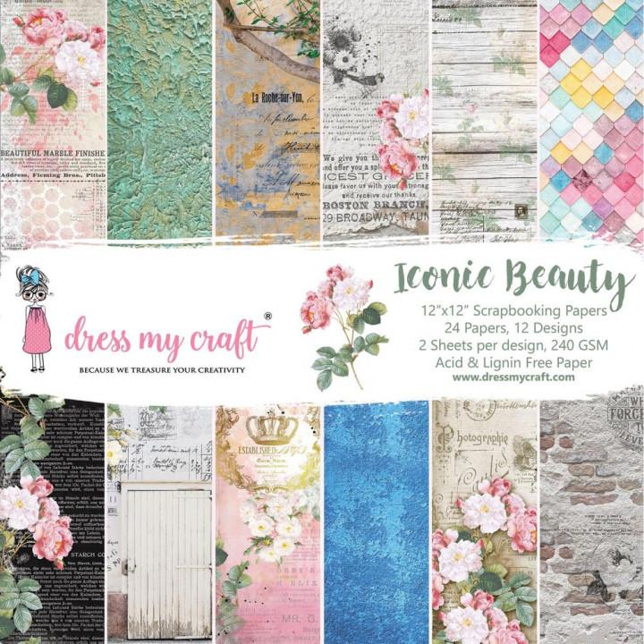 Набір паперу 30*30см Dress My Craft Iconic Beauty 24/Pkg