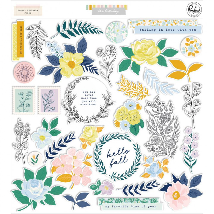 Висічки Pinkfresh Studio Icons Floral The Best Day 34/Pkg