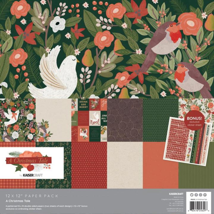 Набір паперу 30*30см Kaisercraft A Christmas Tale 12/Pkg