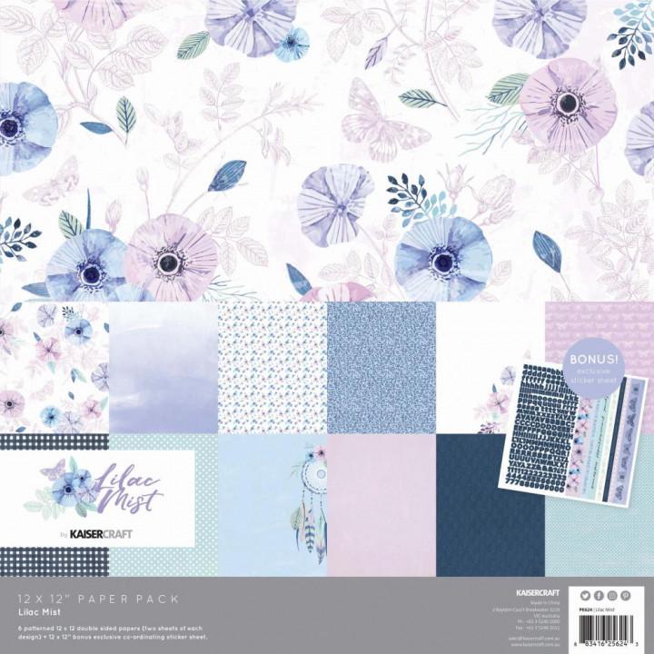 Набір паперу 30*30см Kaisercraft Lilac Mist 12/Pkg