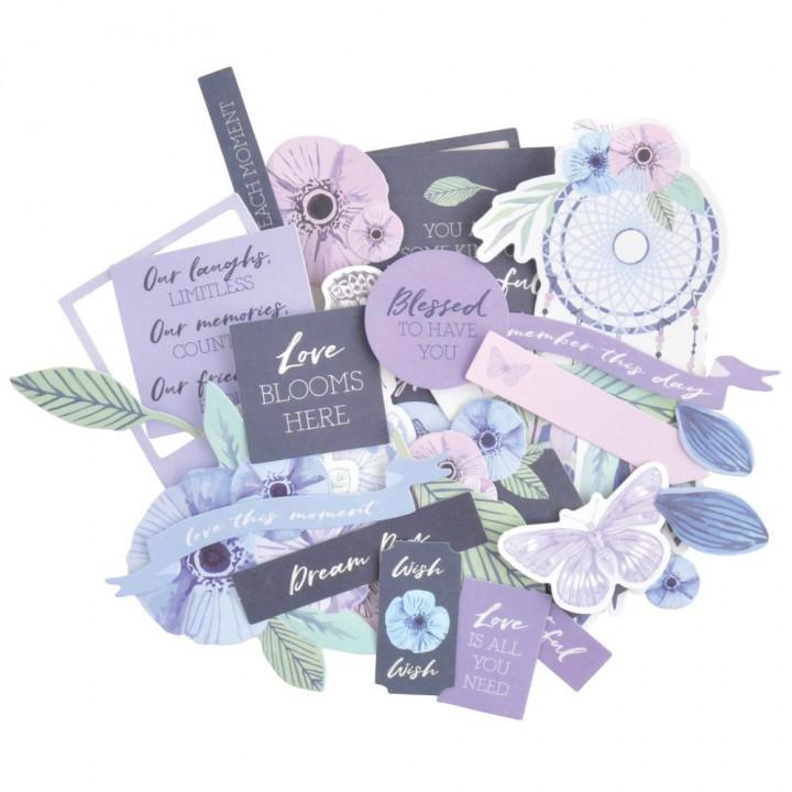 Висічки Kaisercraft Cardstock Die-Cuts Lilac Mist