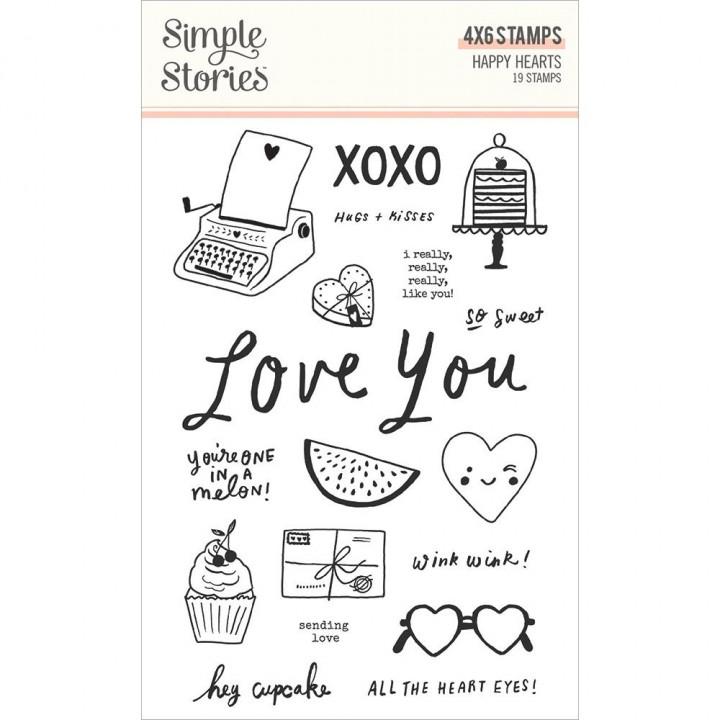 Штампи Simple Stories Happy Hearts