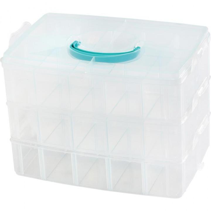 Бокс для зберігання We R Memory Keepers 3-Tier Snap Box Translucent Plastic Storage