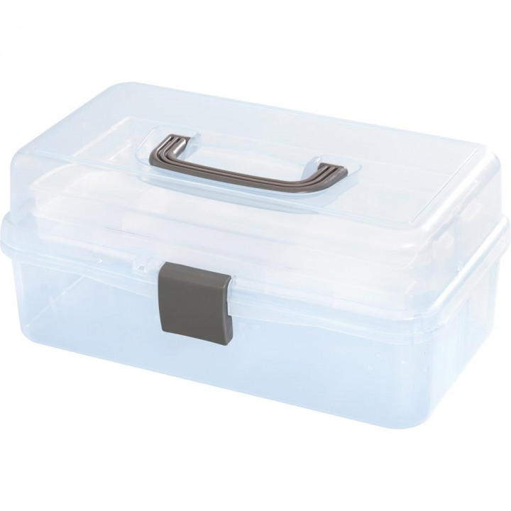 Бокс для зберігання We R Memory Keepers Craft Tool Box Translucent Plastic Storage