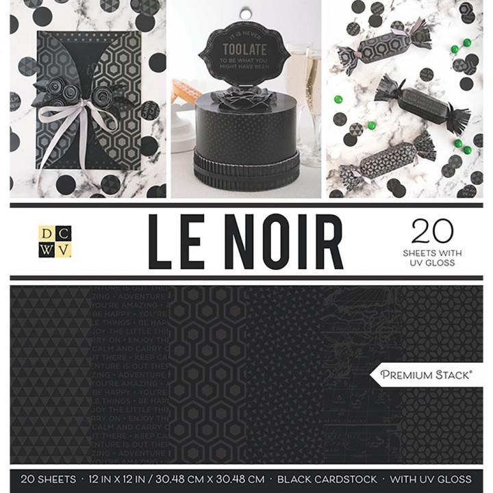 Набір паперу DCWV Le Noir, 20 аркушів