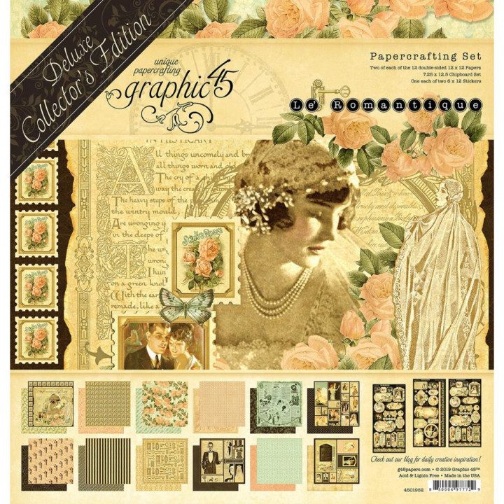Набір паперу Graphic 45 Deluxe Collector's Edition Pack Le Romantique