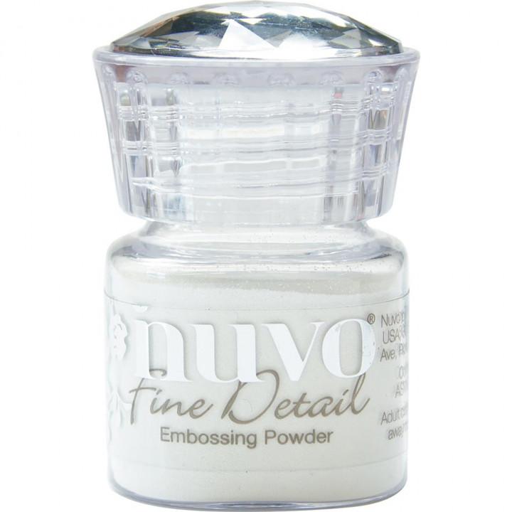 Пудра для ембоссінга Nuvo Embossing Powder Fine Detail Glacier White